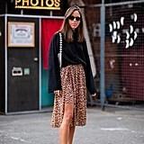 A Leopard-Print Midi Skirt