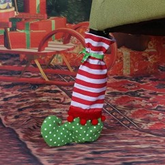Christmas Elf Chair Covers White Resin Chairs Leg Cover On The Shelf Party Supplies
