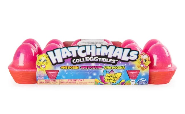 Hatchimals Colleggtibles Neon Nightglow 12 Pack Egg Carton
