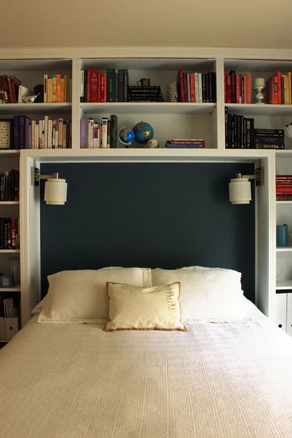 how to style books in bedroom | popsugar home