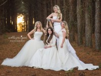 Sisters Wear Their Old Wedding Dresses For Photo ...