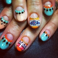 Bold Patterns | Best Summer 2014 Nail Art of Instagram ...