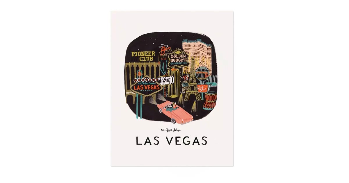 Las Vegas Art Print ($40$50)  Gifts For Extroverts