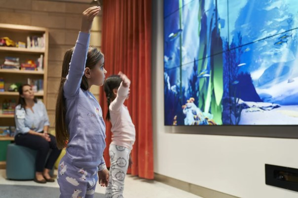 The Interactive California Coast Wellness Eco Zone allows kids to learn about their favorite marine animals.