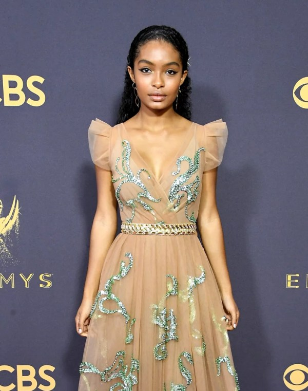 Yara Shahidi Prada Dress Emmys 2017 Popsugar Fashion 2
