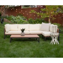 Natural 4-piece Patio Set With Cushions Pier 1 Imports