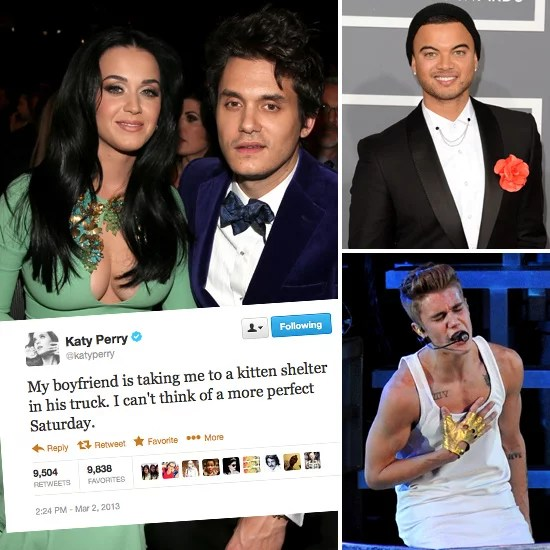 Best Funny Celebrity Tweets Katy Perry Justin Bieber