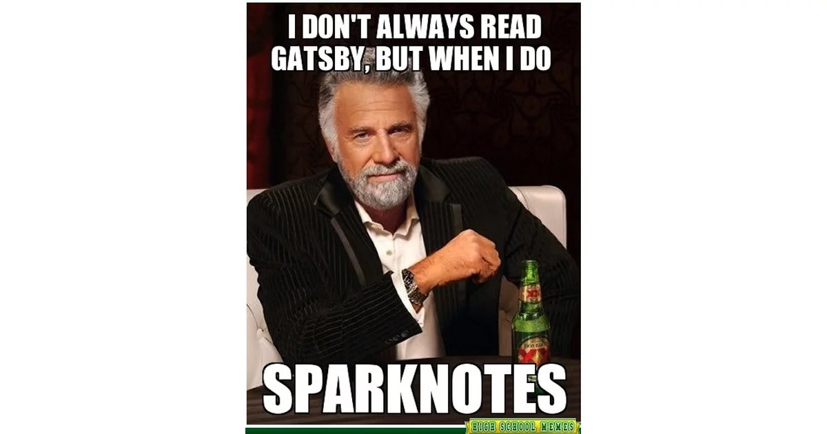 Raise your hand if you read Gatsby with SparkNotes too