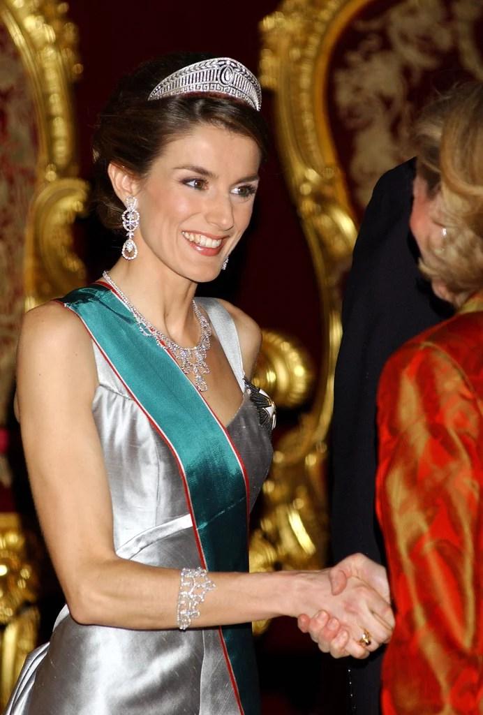 Queen Letizia of Spains Jewelry  POPSUGAR Latina