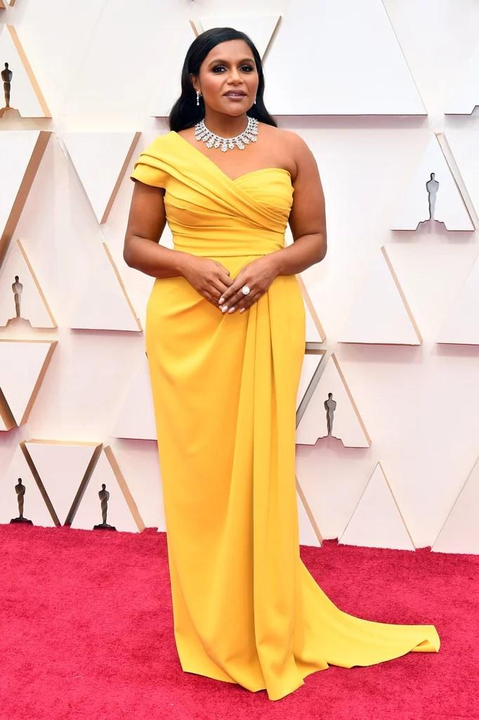 Mindy Kaling Oscars 2020 (PopSugar / Getty)