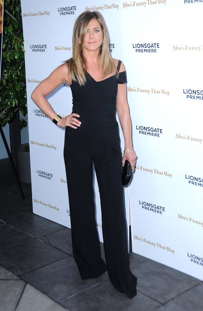 Jennifer Aniston Jumpsuit  Shes Funny That Way Premiere