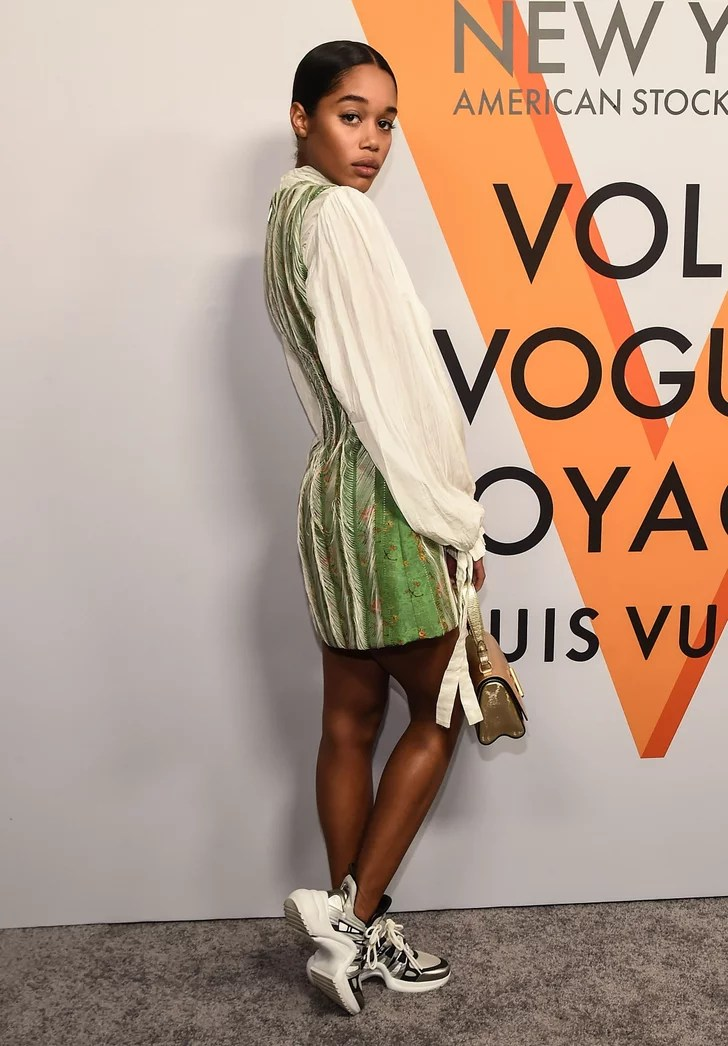 Laura Harriers Louis Vuitton Sneakers POPSUGAR Fashion
