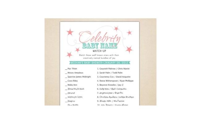 Celebrity Baby Name Game Best Tasteful Baby Shower Games