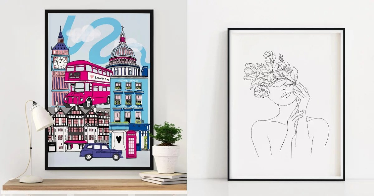 21 Stunning and Unique Wall Art Pieces We Found Hiding on Etsy