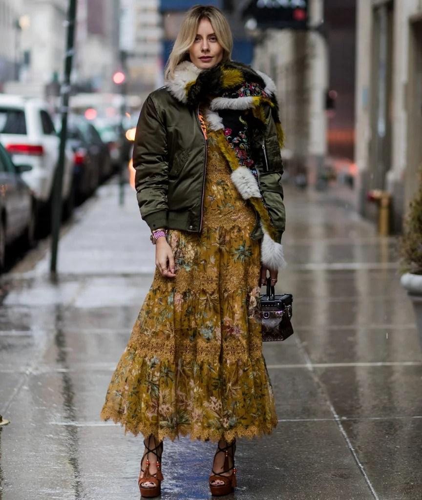 How to Wear a Maxi Dress in Winter  POPSUGAR Fashion