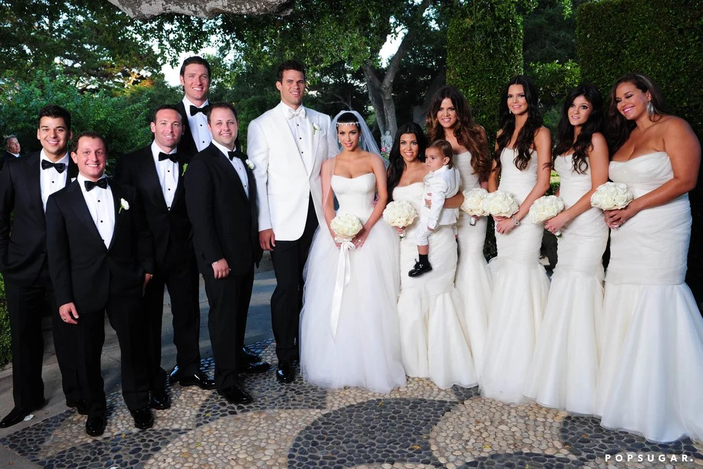 Kim Kardashian S Weddings Popsugar Celebrity