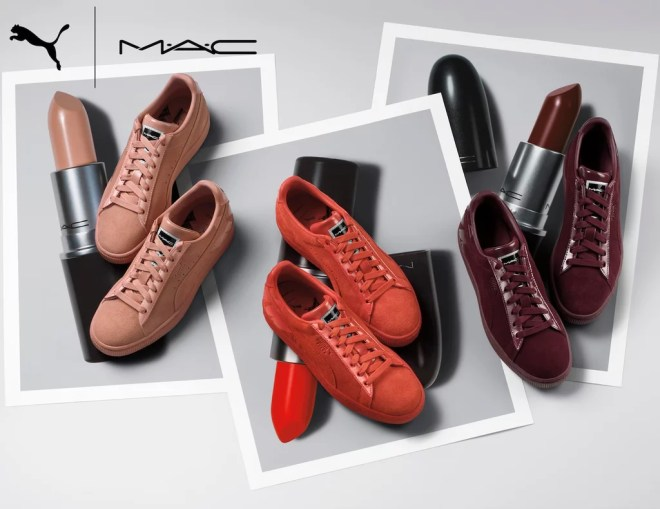 MAC x Puma Sneakers Inspired by Lipstick Shades