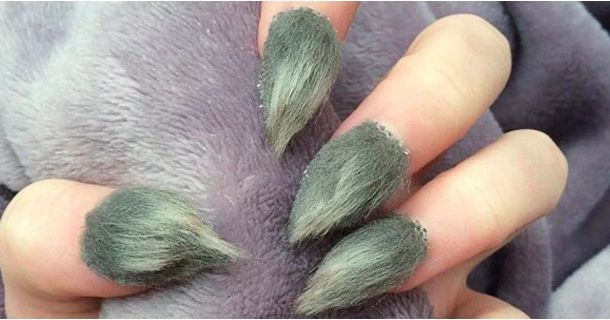 Furry Grinch Nails POPSUGAR Beauty