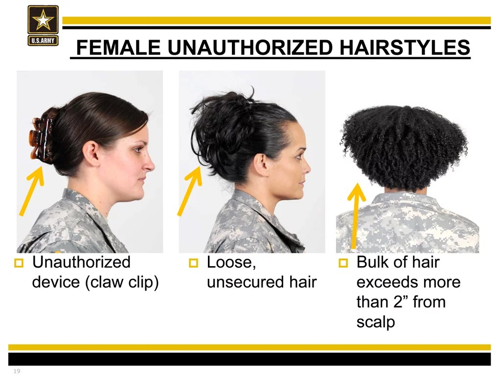 Female Hairstyles For Army Basic Training