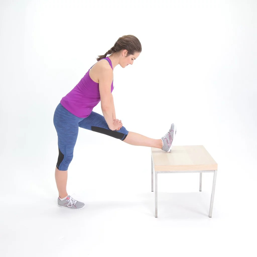 chair stand exercise push button recliner chairs easy hamstring stretches to do avoid injury popsugar