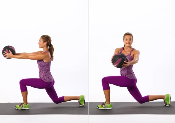 Reverse Lunge With Twist Best Ab Exercises Using Weights