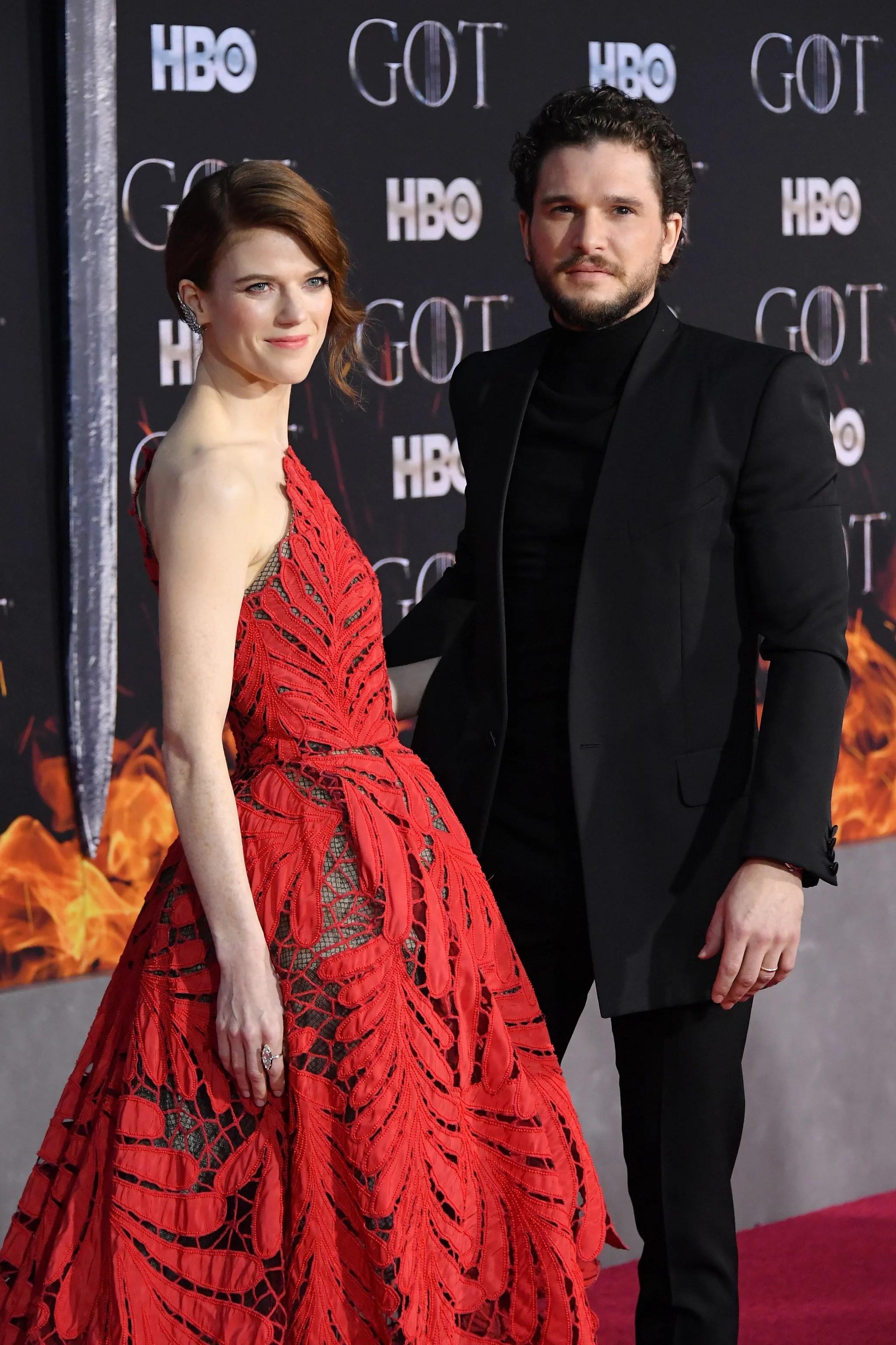 Rose Leslie Game Of Thrones : leslie, thrones, Harington, Leslie, Thrones, Premiere, POPSUGAR, Celebrity