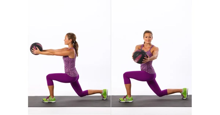 Image result for lunge with torso twist