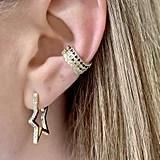 "Melinda Maria Caroline Pave Star Huggie Earring 1"""