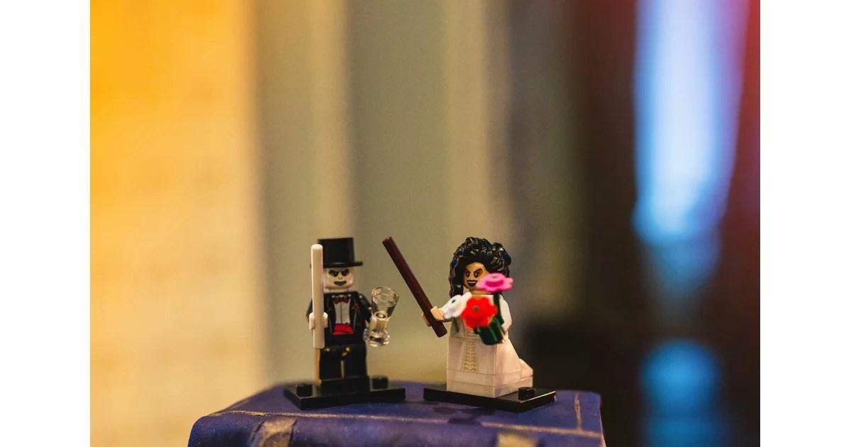 The Lego Voldemort And Bellatrix Lestrange Wedding Cake