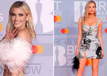 Fluffy Feathered Bags Were the Unexpected Star of the BRIT Awards Red Carpet