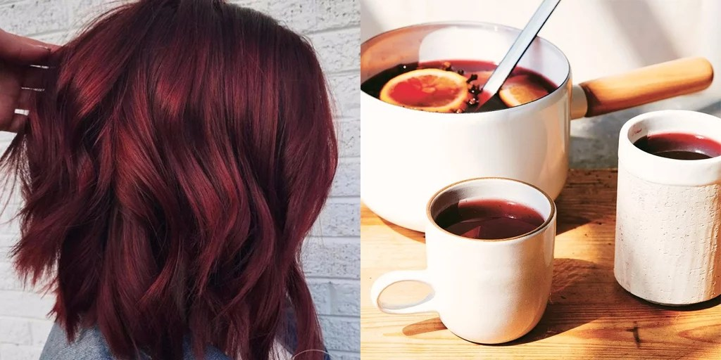 Mulled Wine Winter Hair Color Trend POPSUGAR Beauty