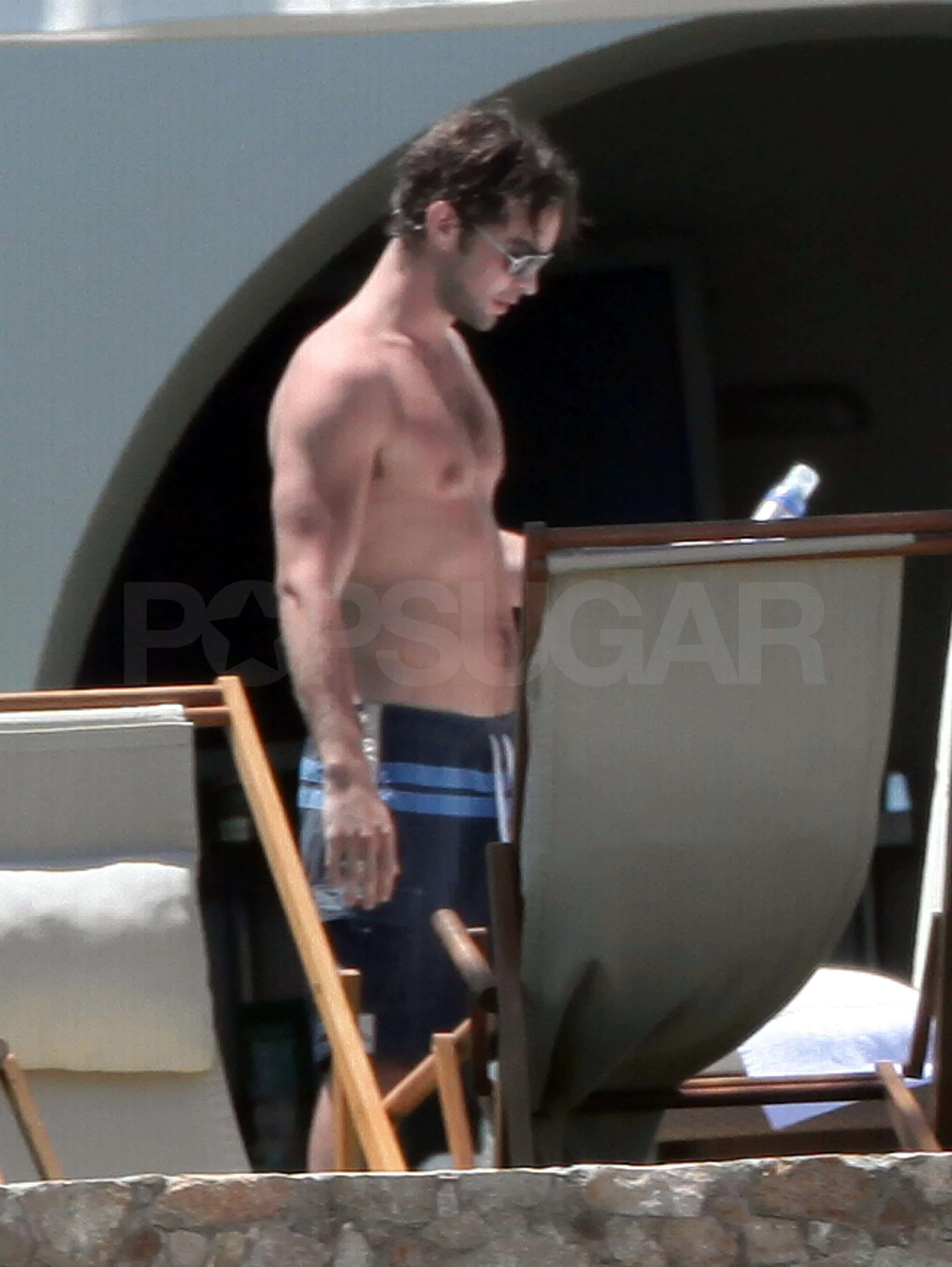 Pictures of Chace Crawford Shirtless in Mexico with Tony