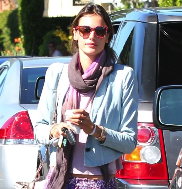 Alessandra Ambrosio' Colorful Printed Sunglasses Meshed Perfectly Coolest Celebrity