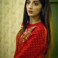 In red dress Mawra Hocane