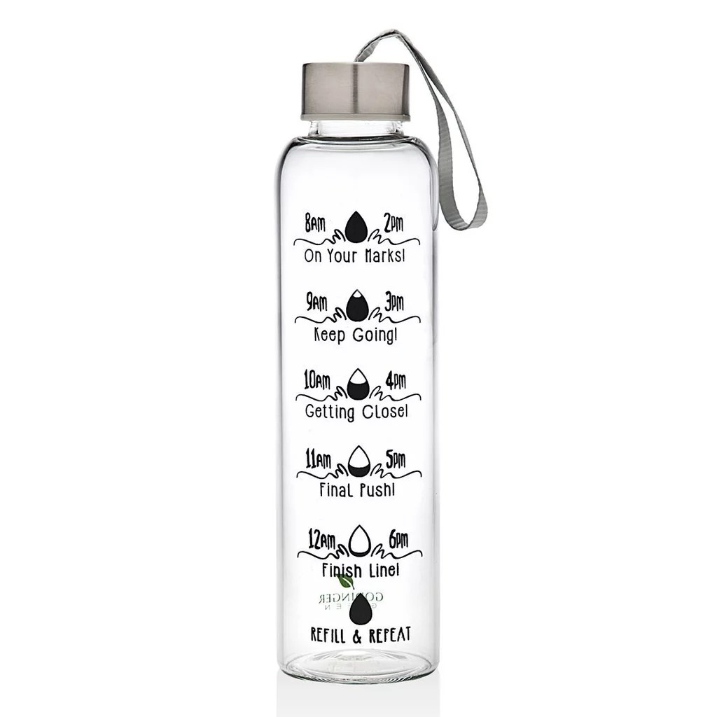 Time Increment Water Bottles