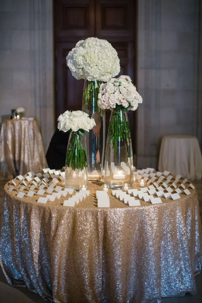 Guide Guests To The Place Card Table With An Asymmetrical