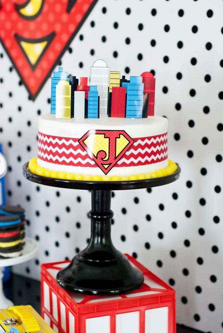 A Superhero Cake Birthday Cakes For Boys Popsugar