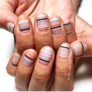 striped nail art ideas popsugar