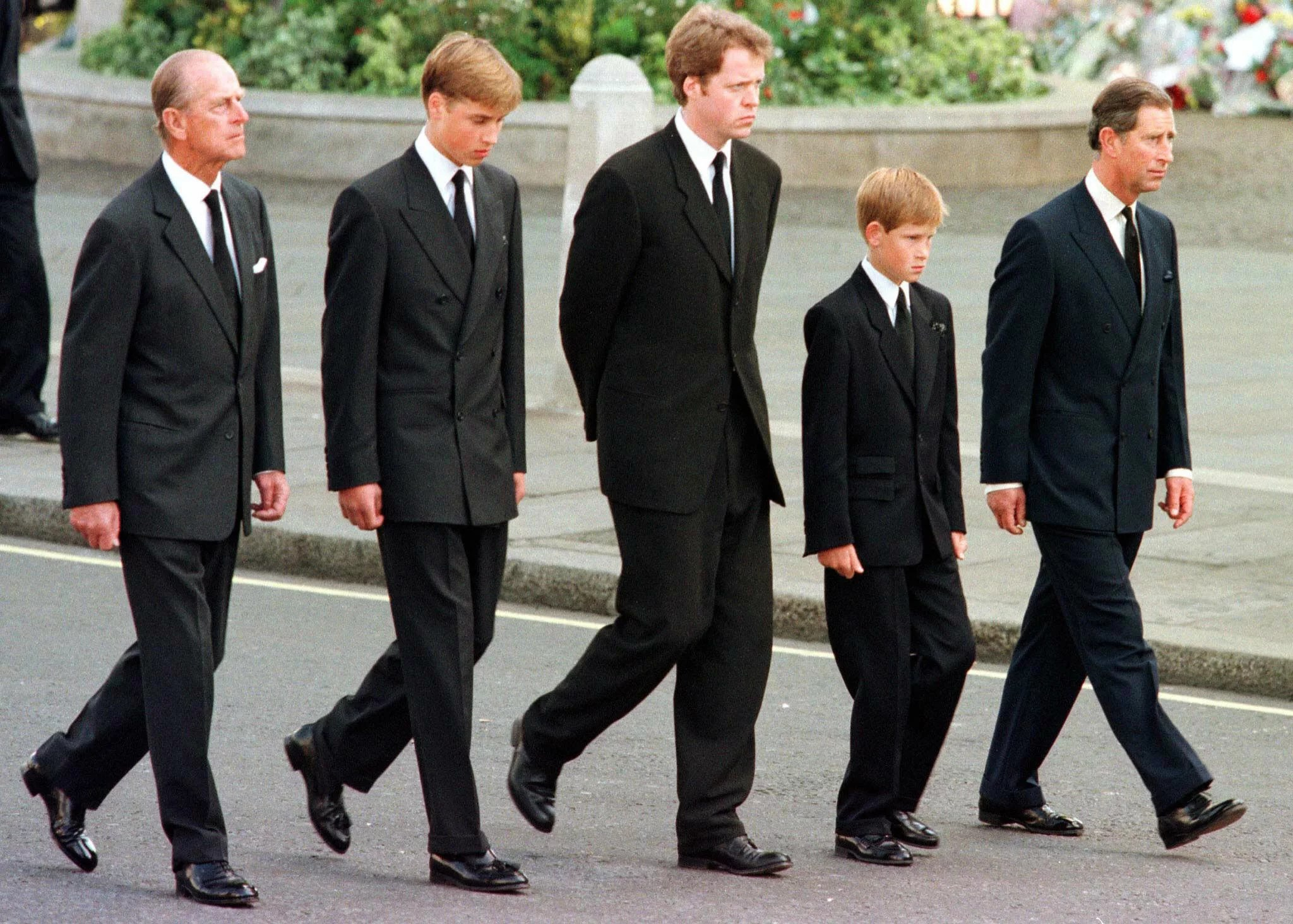 William And Harry At Princess Dianas Funeral