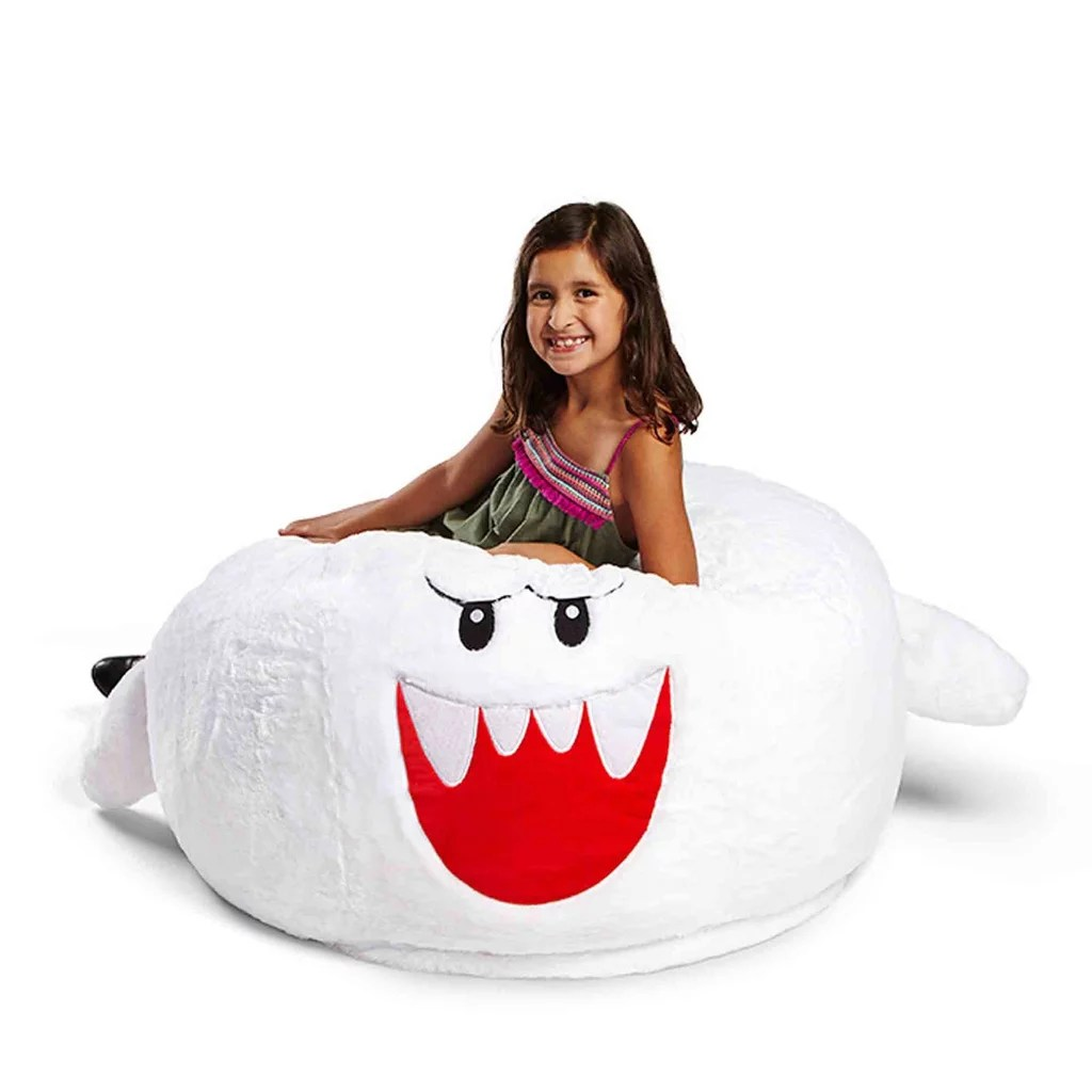 princess bean bag chair manual lift for stairs nintendo super mario boo popsugar family