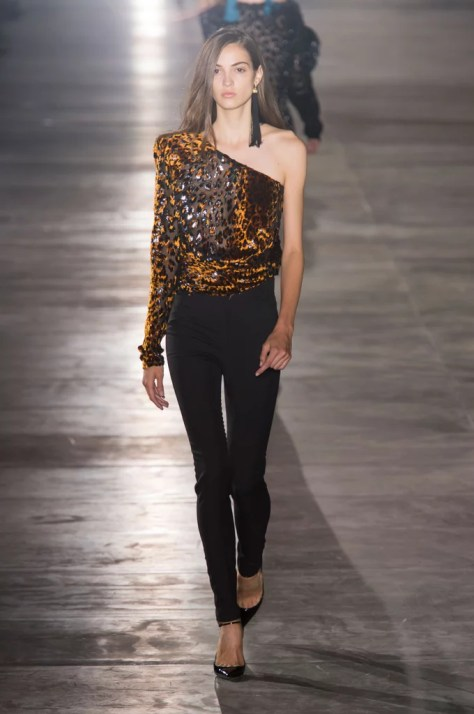 The Saint Laurent collection debuted during Paris Fashion Week on Sept. 27.