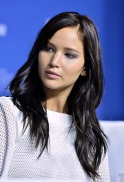 jennifer lawrence with dark hair