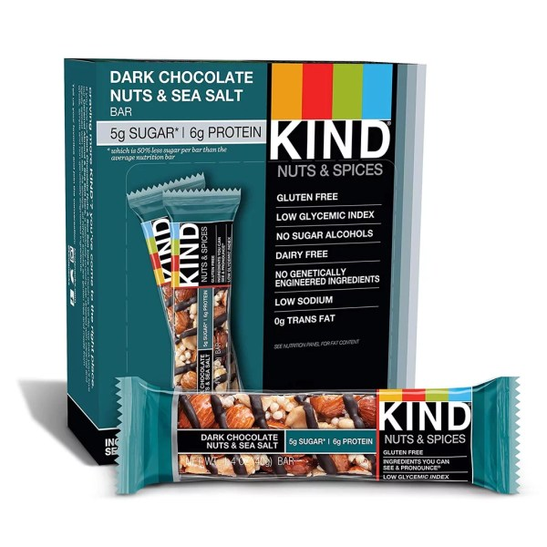 KIND Bars Dark Chocolate Nuts amp Sea Salt Best LowSugar