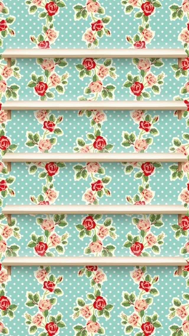 Iphone 6 Cute Shelf Wallpaper Polka Dot Roses Iphone Wallpaper Popsugar Tech Photo 11