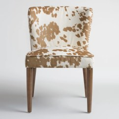 Cow Print Chair Bar Stool Tan Hued Upholstery 300 For Set Of 2