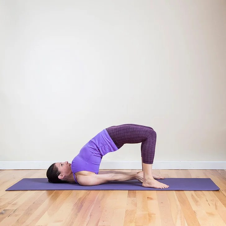Bridge Pose (aka Half-Wheel Pose) | Bridge Exercise Variations | POPSUGAR Fitness Photo 2