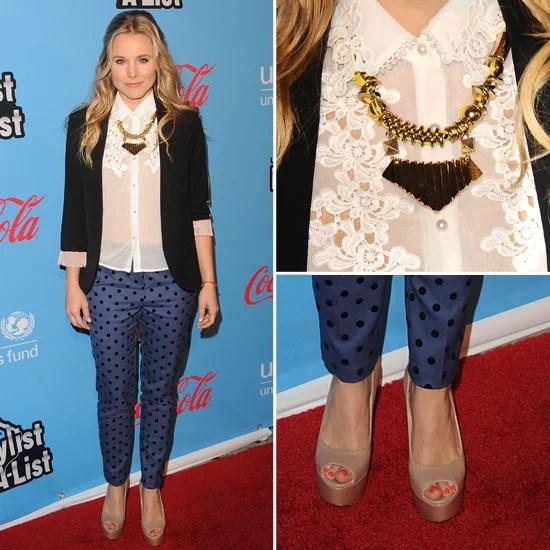 Kristen Bell Topshop Pants POPSUGAR Fashion
