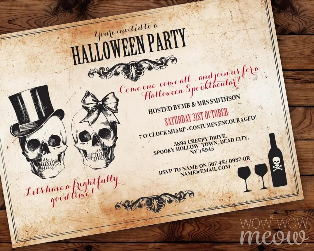 Cheap Halloween Invitations