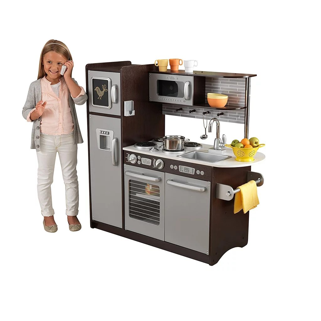 KidKraft Uptown Espresso Kitchen  Gift Guide For 6Year