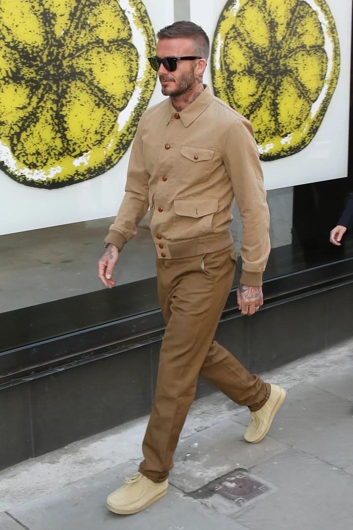 David Beckham At London Fashion Week Mens 2018 POPSUGAR